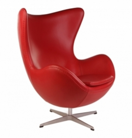 DREAMSEATS_REPLICA ARNE JACOBSEN EGG CHAIR  ANILINE LEATHER