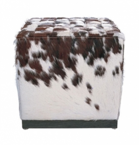 CUBE STOOL PONY HIDE (CROSS STITCH)