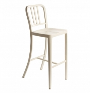 DREAMSEATS US NAVY 76CM BAR STOOL - ALUMINIUM