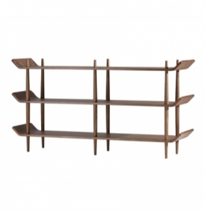 ORIGINAL SEAN DIX DOUBLE BOOKSHELF