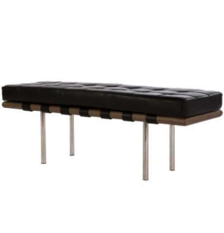 REPLICA MIES LEATHER BENCH 134CM - DELUXE