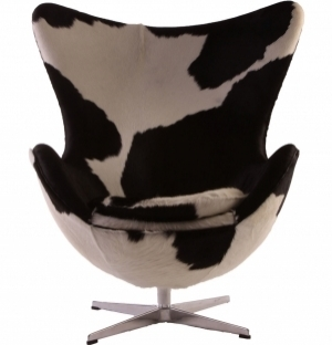 DREAMSEATS_REPLICA ARNE JACOBSEN EGG CHAIR COWHIDE